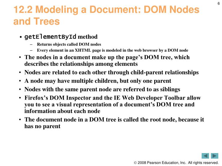 12.2 Modeling a Document: DOM Nodes and Trees
