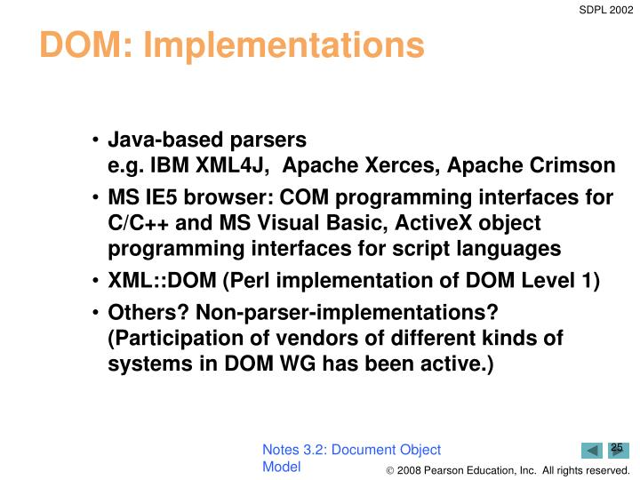 Notes 3.2: Document Object Model
