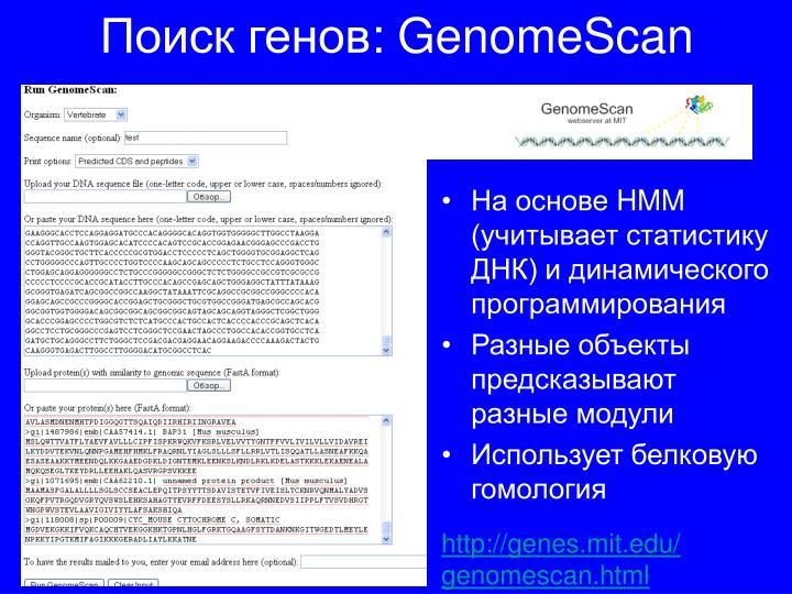 Поиск генов