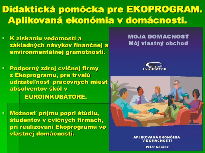 Didaktická pomôcka pre EKOPROGRAM.