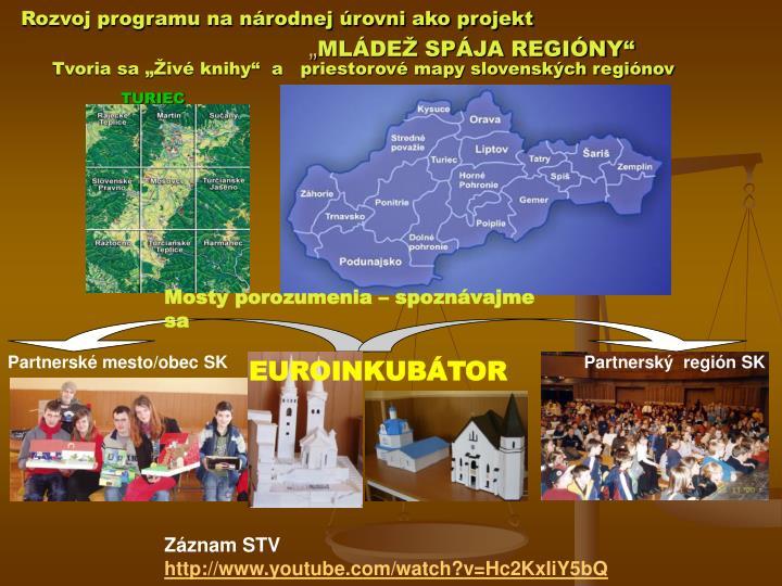 Rozvoj programu na národnej úrovni ako projekt
