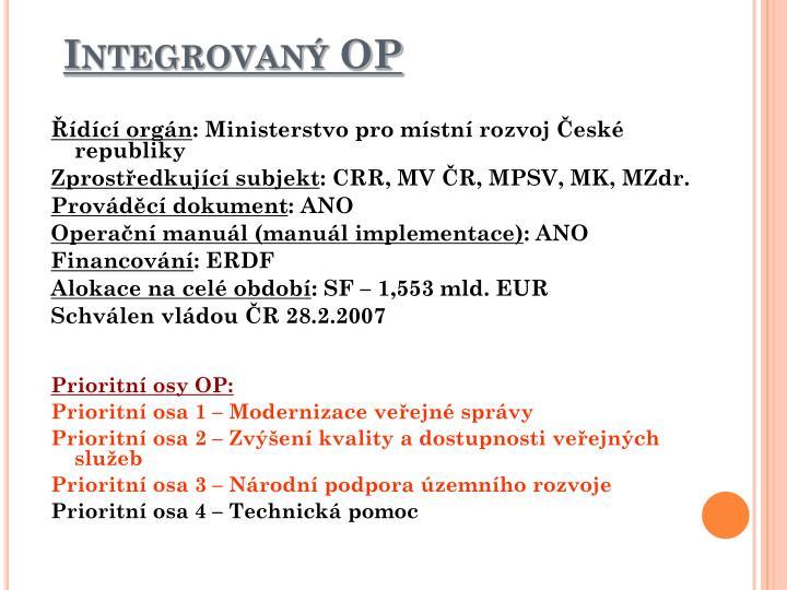 Integrovaný OP