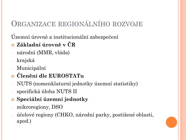 Organizace regionálního rozvoje