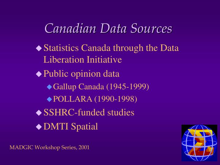 Canadian Data Sources