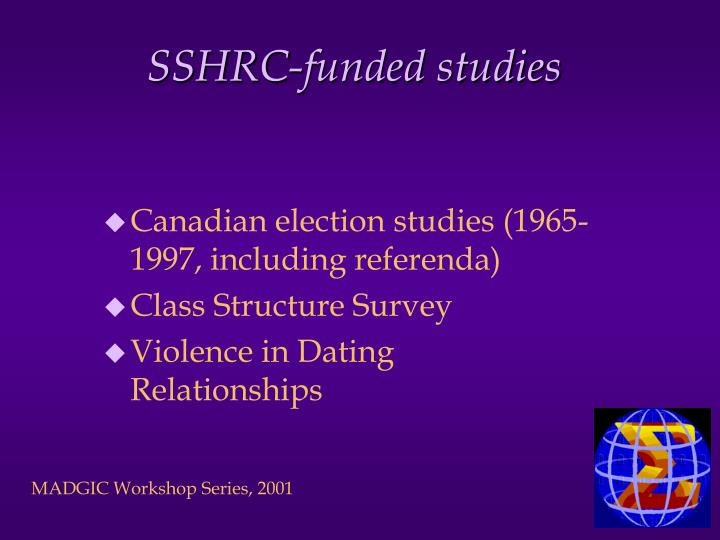 SSHRC-funded studies