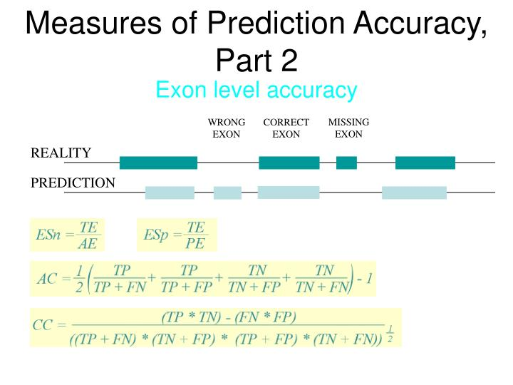 Measures of Prediction Accuracy, Part 2