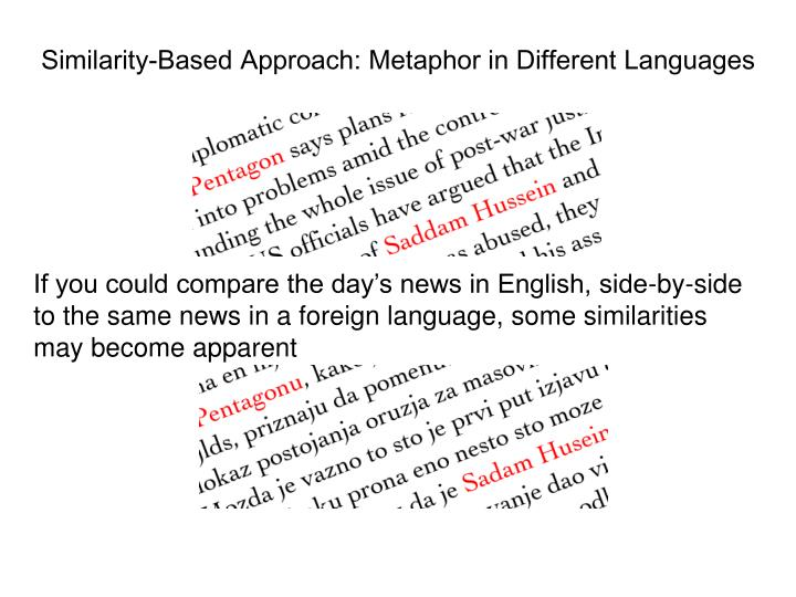 Similarity-Based Approach: Metaphor in Different Languages