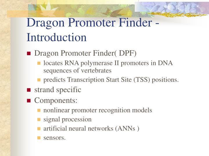 Dragon Promoter Finder -