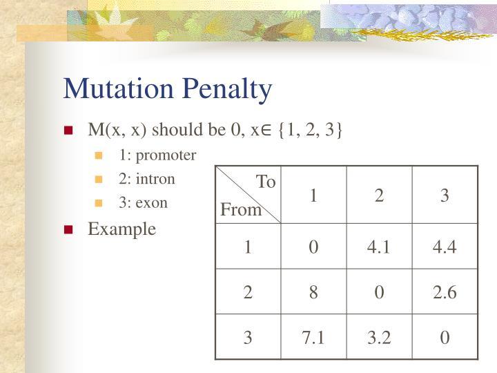 Mutation Penalty
