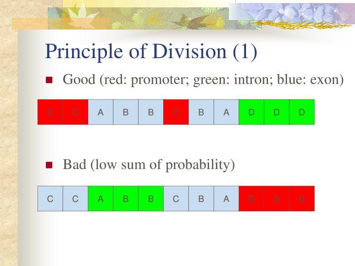 Principle of Division (1)