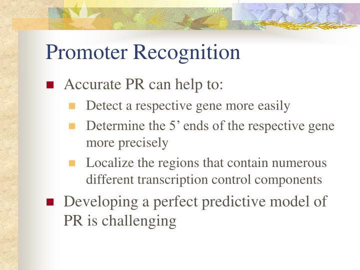 Promoter Recognition