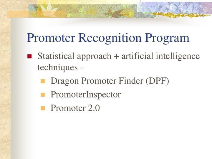 Promoter Recognition Program