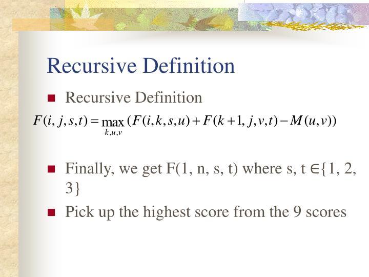 Recursive Definition