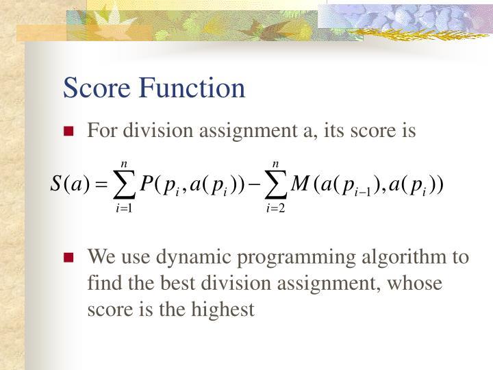 Score Function