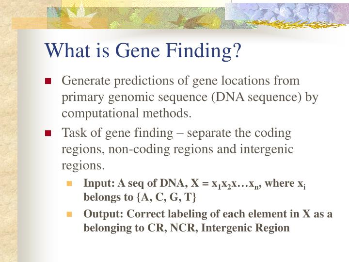 What is Gene Finding?