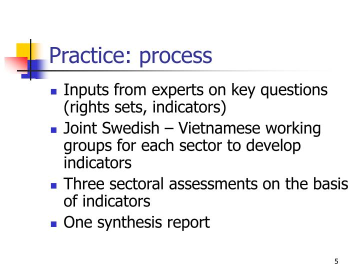 Practice: process