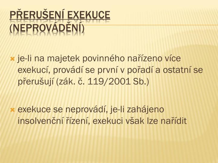 Přerušení exekuce