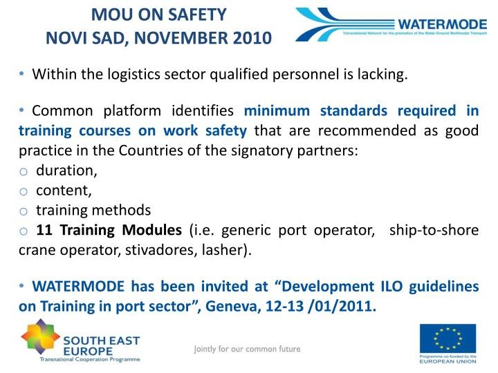 MOU ON SAFETY