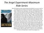 the angel experiment maximum ride series