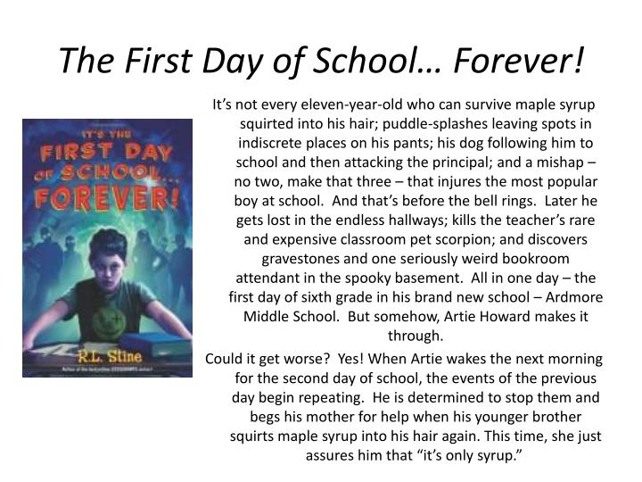 The First Day of School… Forever!