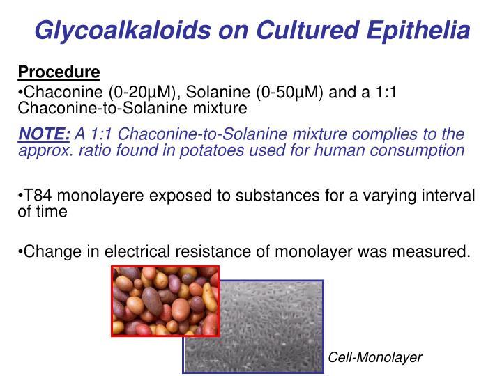 Glycoalkaloids on Cultured Epithelia