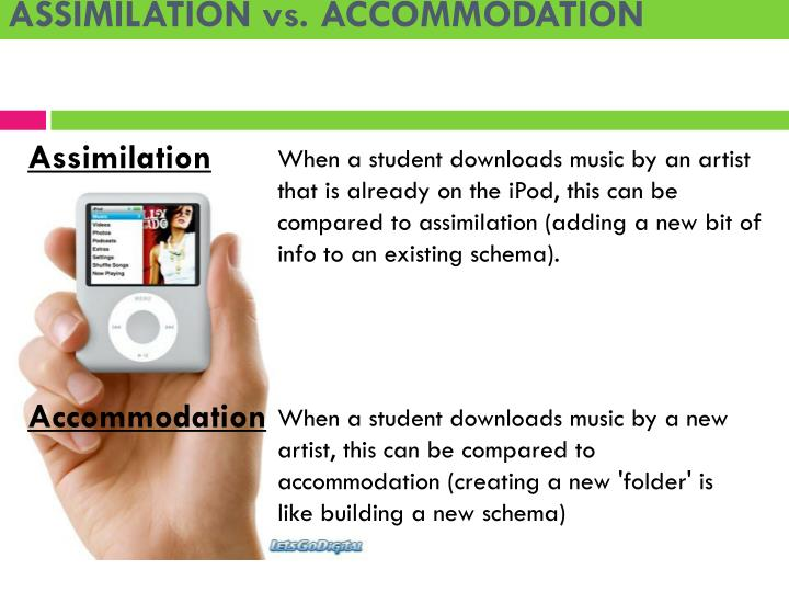 ASSIMILATION vs. ACCOMMODATION