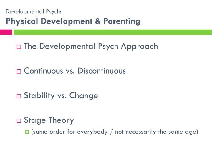 Developmental Psych: