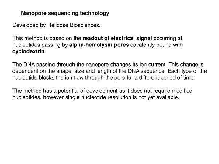 Nanopore sequencing technology