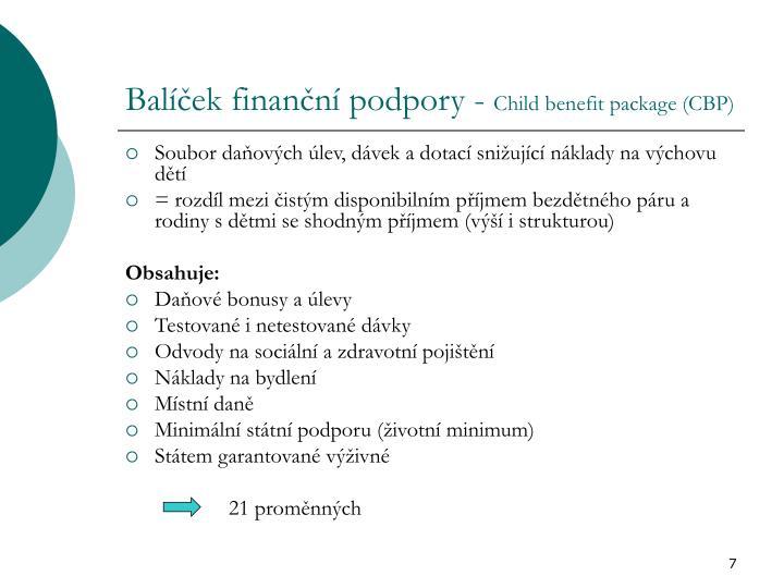 Balíček finanční podpory -