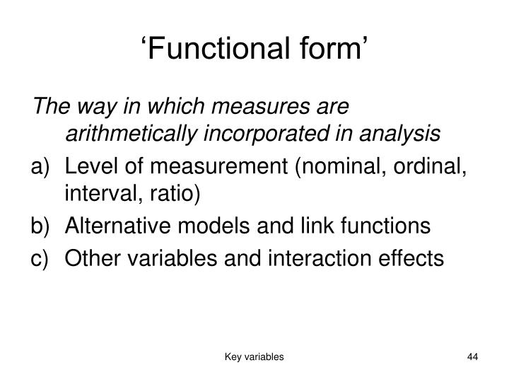 'Functional form'