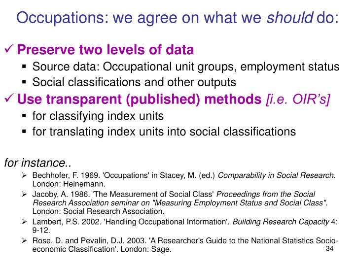 Occupations: we agree on what we