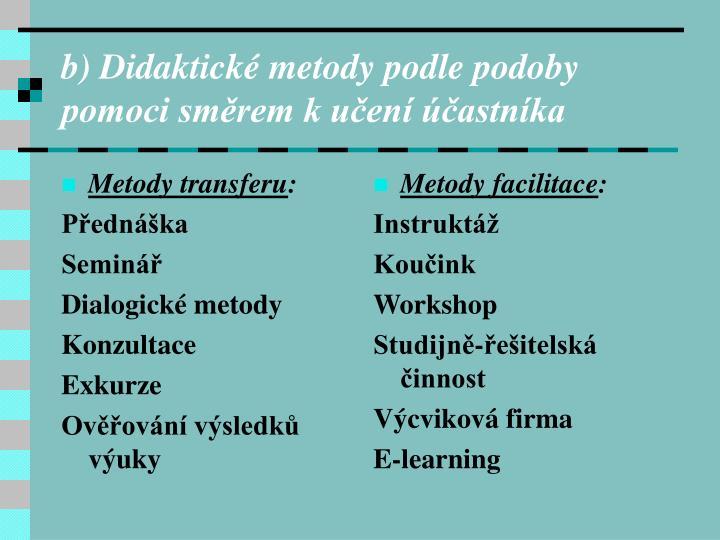 Metody transferu