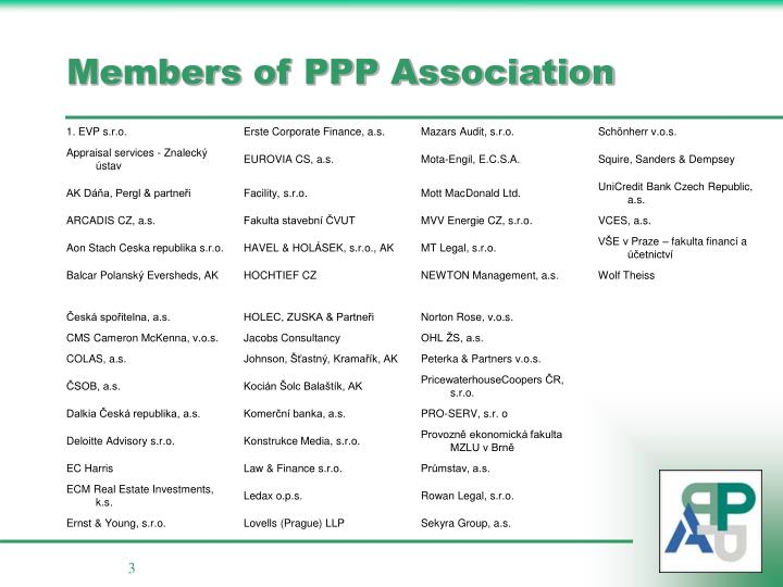 Members of ppp association