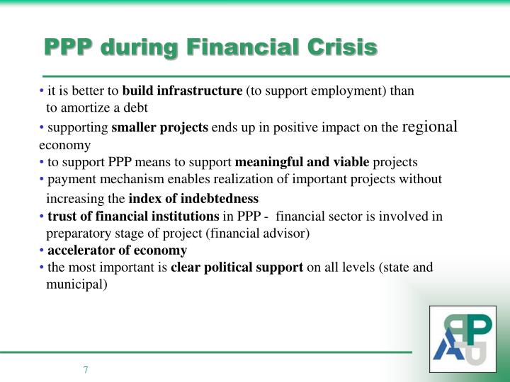PPP during Financial Crisis