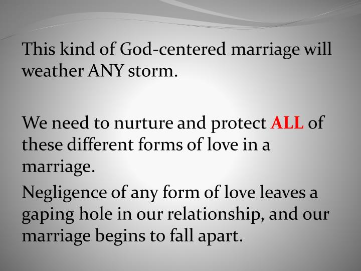 This kind of God-centered marriage will weather ANY storm.
