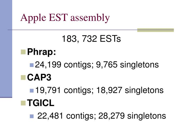 Apple EST assembly