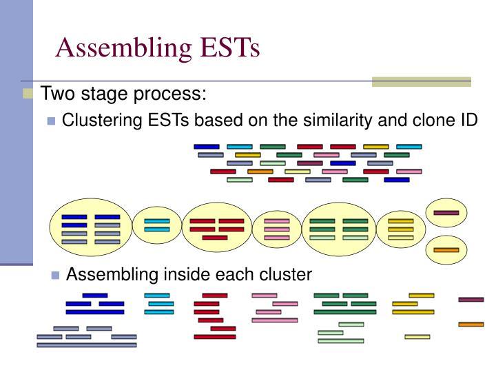 Assembling inside each cluster