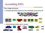 assembling ests