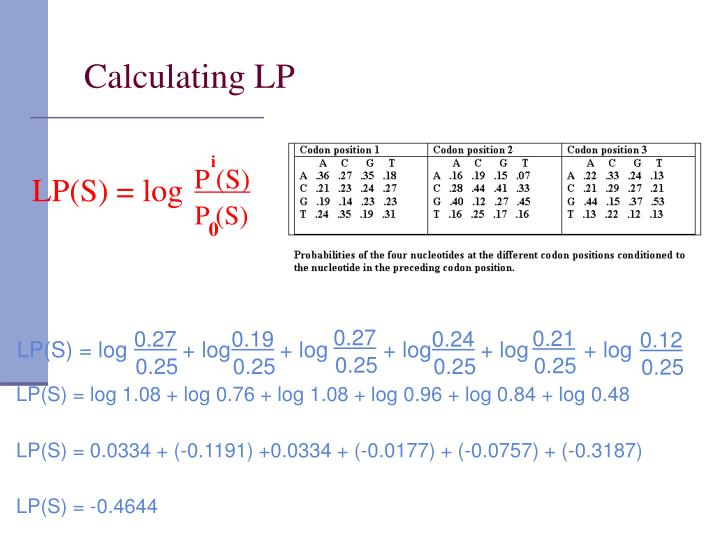 Calculating LP