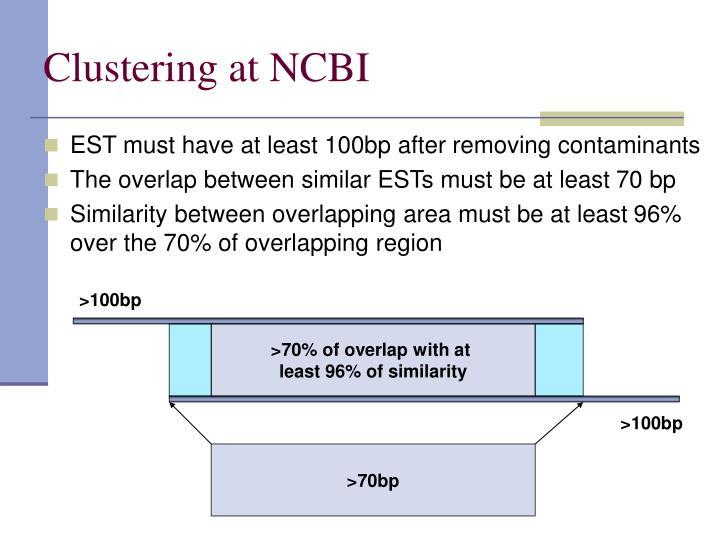 Clustering at NCBI