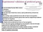 experimental validation of predicted genes