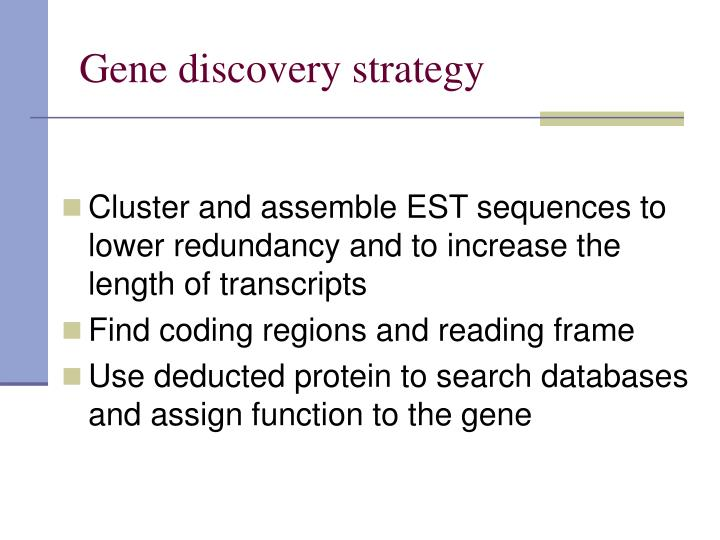 Gene discovery strategy