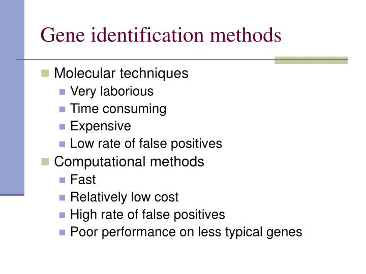 Gene identification methods