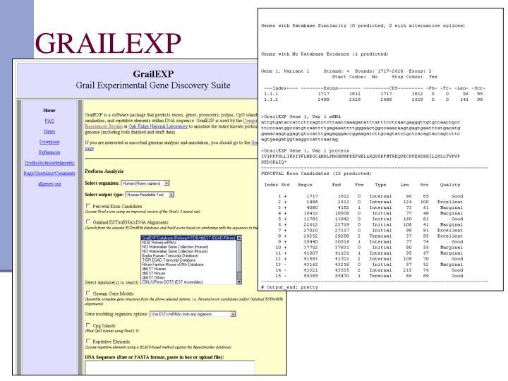 GRAILEXP