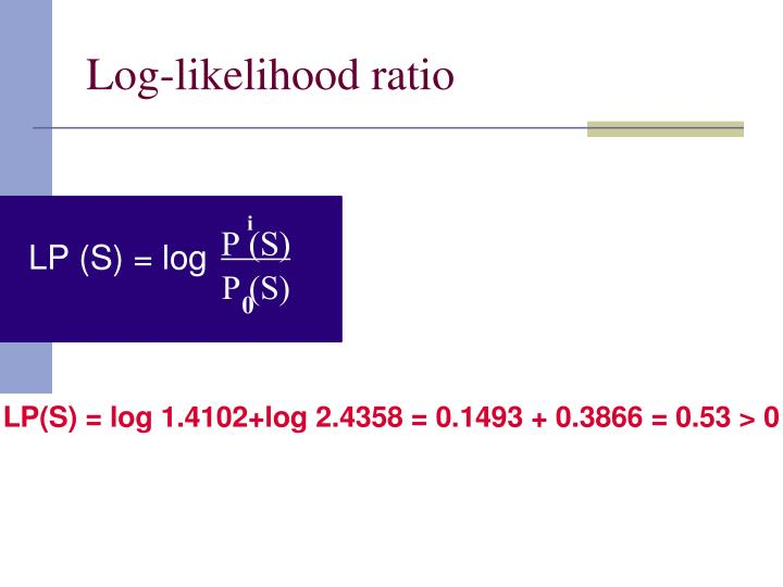 Log-likelihood ratio