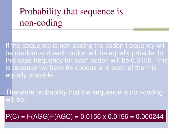 Probability that sequence is
