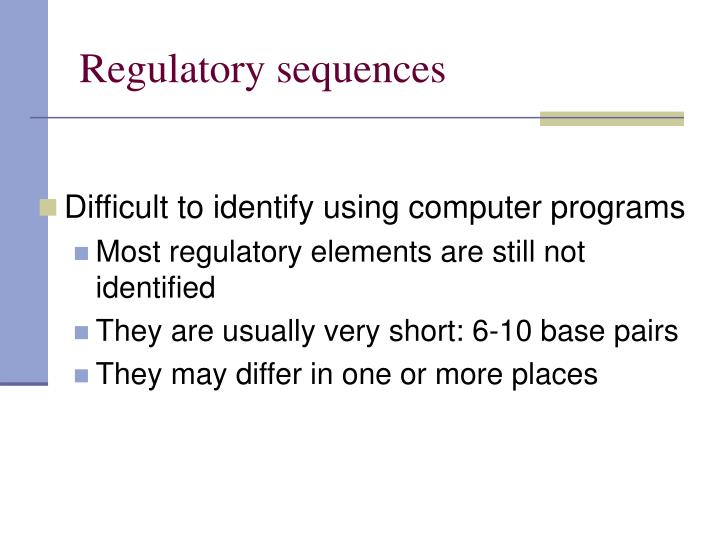 Regulatory sequences