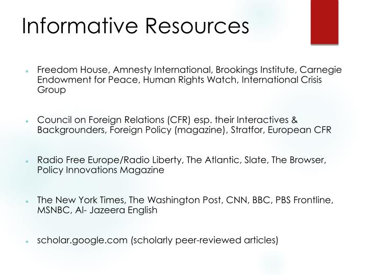 Informative Resources