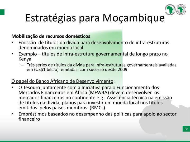 Estratégias para Moçambique