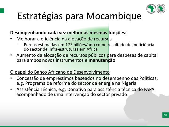 Estratégias para Mocambique